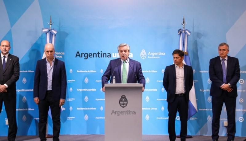 Conferencia de prensa del presidente Alberto Fernández.