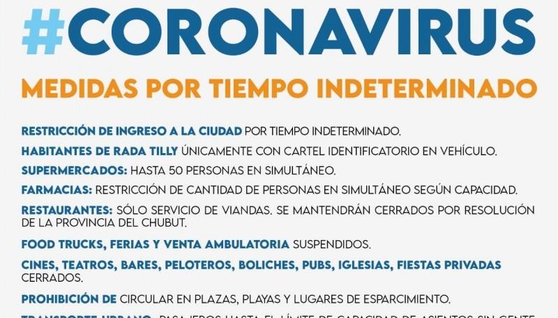 Restricciones en Comodoro Rivadavia por el Coronavirus