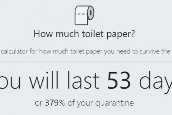 Crearon una calculadora que te dice si tenés suficiente papel higiénico