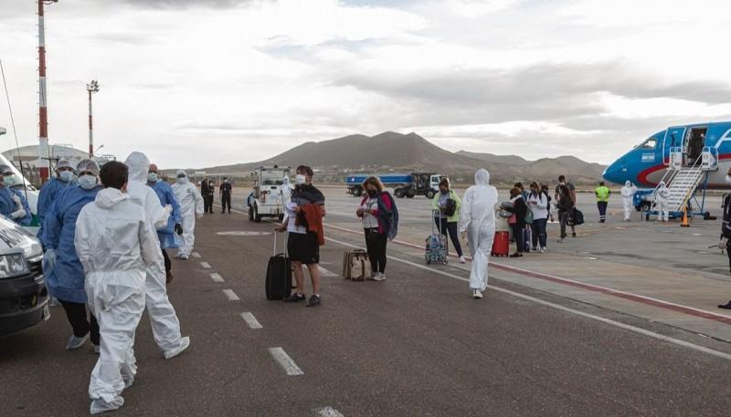Municipio realizó operativo de seguridad e higiene ante la llegada de un vuelo