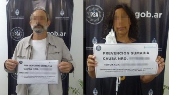 Detenidos por la PSA.