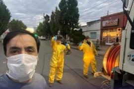 Desinfectaron el Hospital, cajeros y aeropuerto