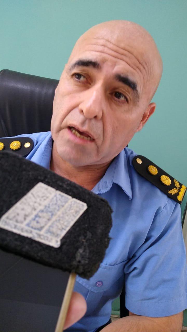 El jefe de la Unidad Regional de Puerto Madryn, Fernando Mora