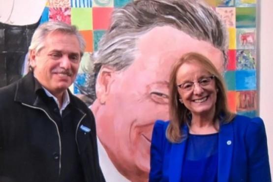 Alberto Fernández y Alicia Kirchner (foto archivo).