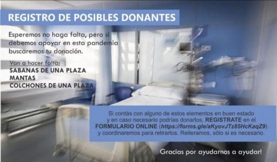 Registro de posibles donantes.