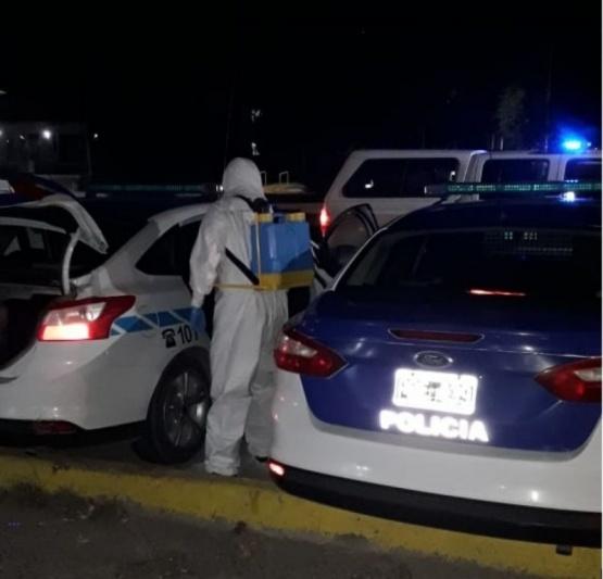 Desinfección de Móviles policiales.