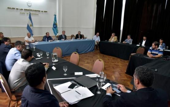 Reunión de Gabinete de Mariano Arcioni.