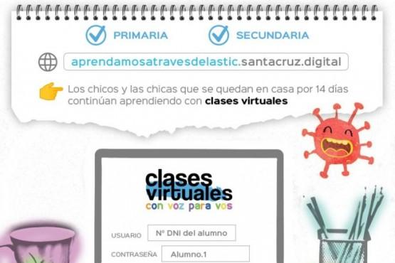Clases virtuales de Educación.