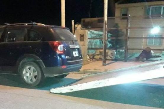 La camioneta del detenido fue secuestrada.