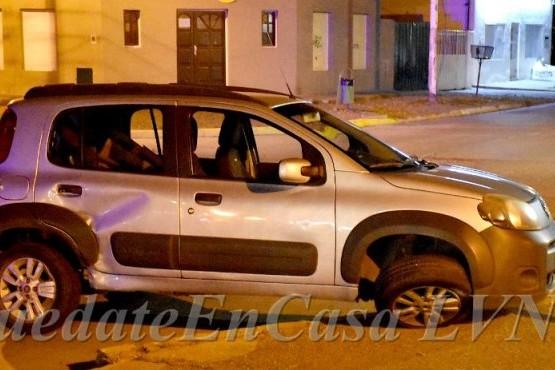 Fiat Uno chocado. (Foto LVN)