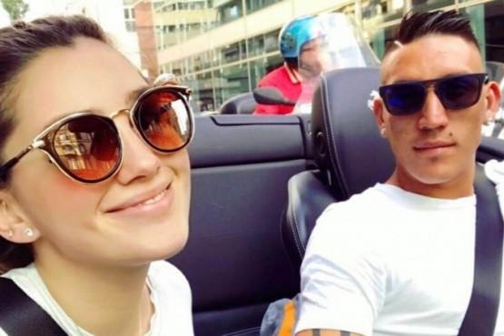Melody junto a Ricardo Centurión.