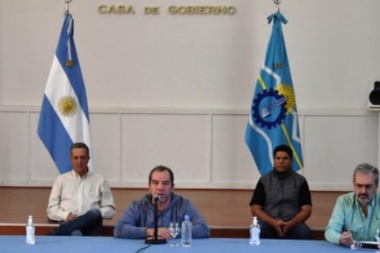 El ministro de Gobierno y Justicia del Chubut, José María Grazzini.