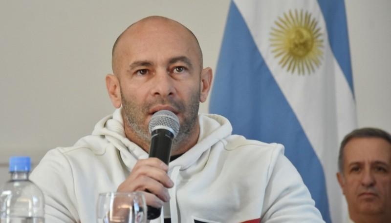 El ministro de Seguridad del Chubut, Federico Massoni.