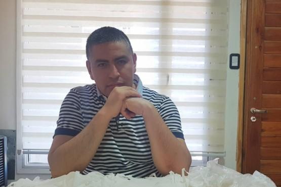 El comité UCR dono barbijos a trabajadores de la vía pública