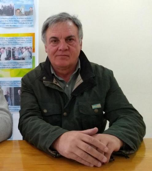 El presidente del Centro de Veteranos de Esquel, Jorge Fernández.