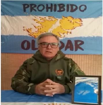 Jorge Fernández, presidente del Centro de Ex Soldados Combatientes de Malvinas de Esquel y Zona Noroeste