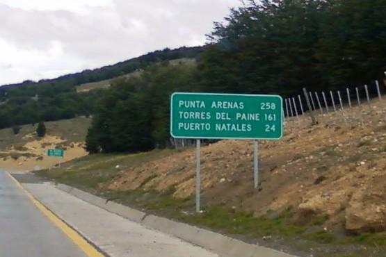 Ruta hacia Chile.