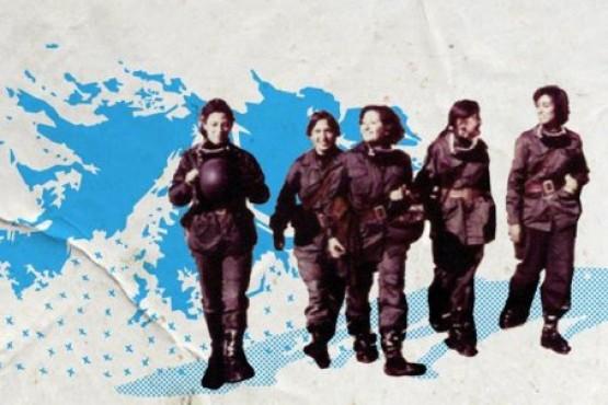 Enfermeras durante la Guerra de Malvinas.
