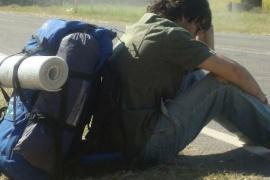 En Comodoro se activó el protocolo por mochilero que salió de El Calafate
