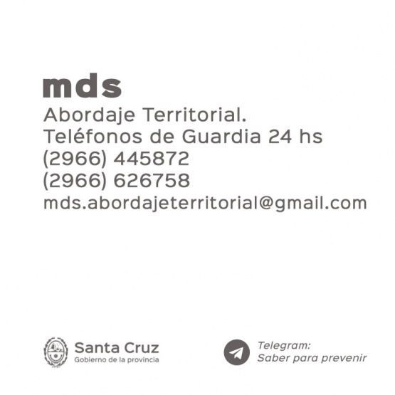 Teléfonos y contactos de Abordaje territorial.