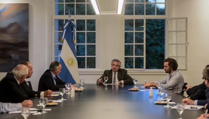 Alberto se reunió en Olivos con empresarios de la Unión Industrial Argentina
