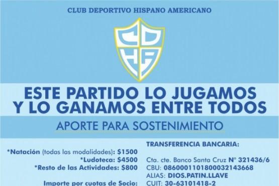 Hispano pide un aporte para sostenimiento.