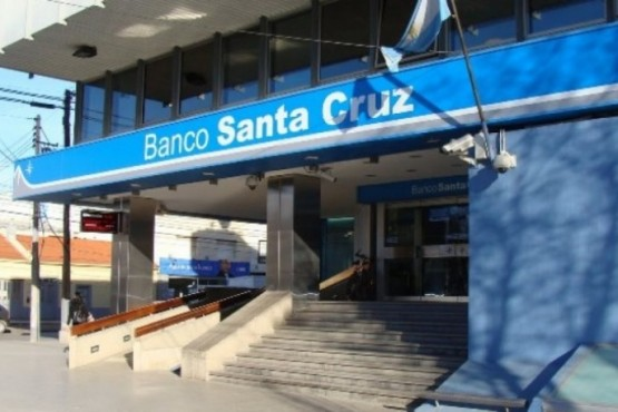Banco Santa Cruz (foto archivo).