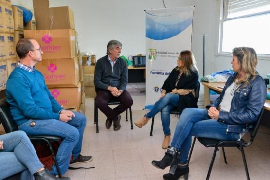 Municipio gestiona más ayuda para el Hospital Zonal