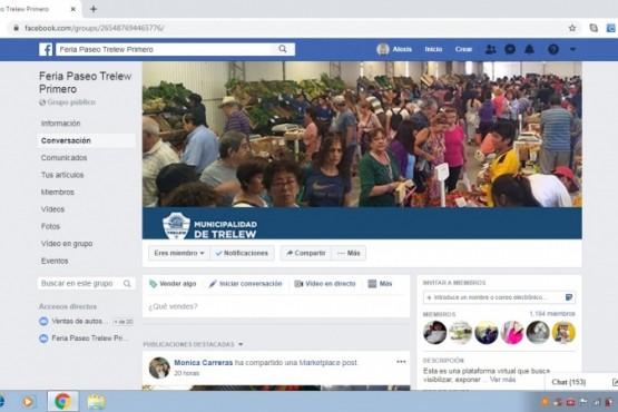 Feria Paseo Trelew Primero ahora es virtual