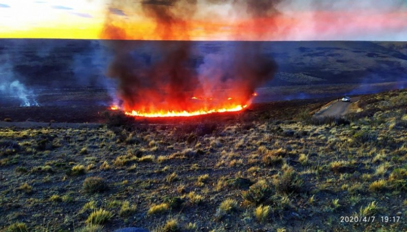 Incendio forestal en Ruta 25