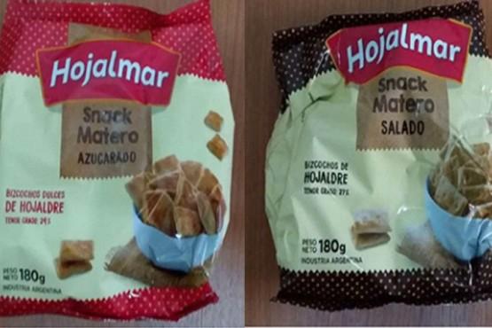 ANMAT retiro del mercado dos clases de bizcochos Hojalmar S.A