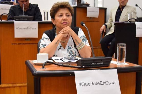 La concejal Viviana Navarro