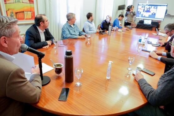 Arcioni encabezó la primera reunión con el Comité Económico y Social