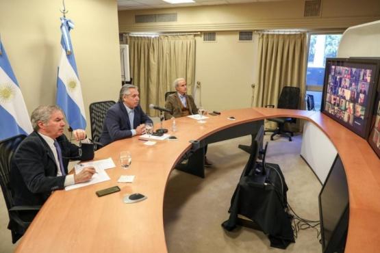 El Presidente en videoconferencia.