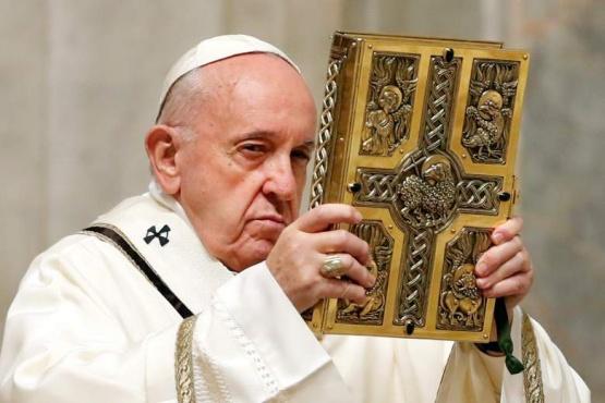 Francisco I en una misa atípica.