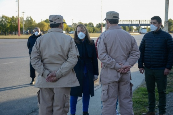 Alicia agradeció a las fuerzas de seguridad por el trabajo realizan