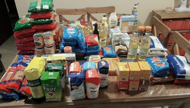 Algunos de los alimentos recolectados.