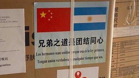 Llegada de insumos de China.