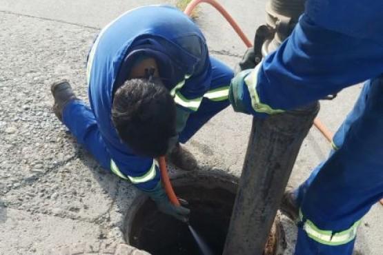 Servicios Públicos continúa con tareas de saneamiento