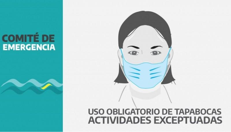 El COE determinó el uso obligatorio de tapabocas para trabajadores exceptuados