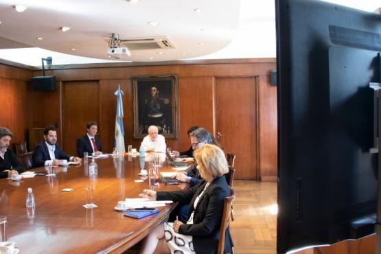 Ginés se reunió con sus pares provinciales vía teleconferencia