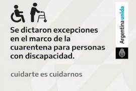 Personas con discapacidad podrán realizar salidas a la Plaza Malvinas Argentinas