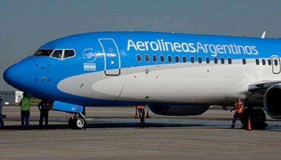 Vuelo de Aerolíneas Argentinas.
