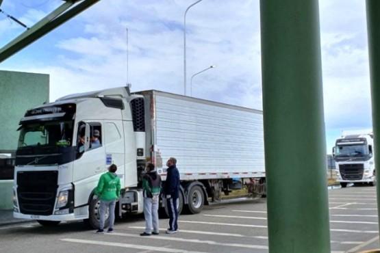 Camioneros en Río Gallegos.