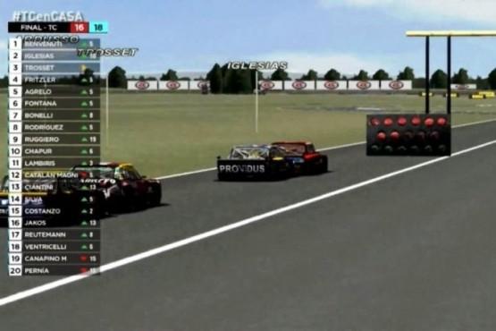 Se corrió la segunda carrera del TC Virtual
