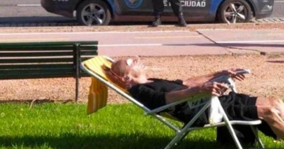 Megaoperativo por una anciana que salió a tomar sol