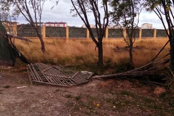 Preocupante situación edilicia en el área de Espacios Verdes municipal