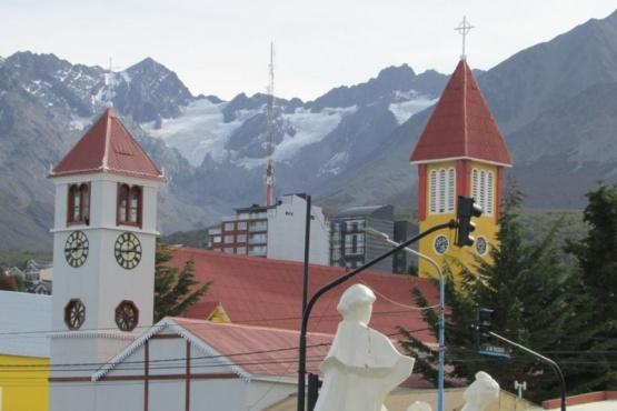 Frío hoy en Ushuaia.