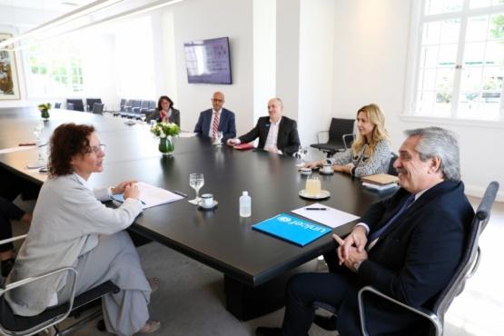 El presidente reunido con UNICEF.