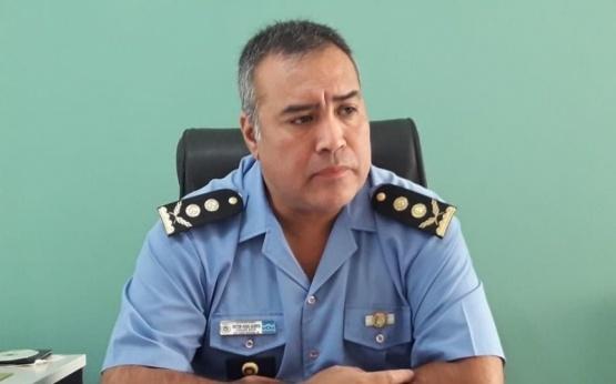 El Jefe de la Unidad Regional de Esquel, Victor Acosta